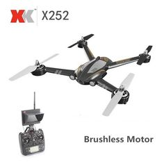 XK X252 5.8G FPV With 720P 140° Wide-Angle HD Camera Brushless Motor 7CH 3D 6G RC Quadcopter
