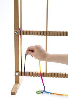 Melissa & Doug Wooden Multi-Craft Weaving Loom: Extra-Large Frame x inches) Rug Loom, Loom Weaving, Pin Weaving, Tapestry Weaving, Loom Knitting, Free Knitting, Weaving Projects, Craft Projects, Yarn Crafts