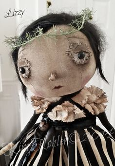 Primitive Artist Doll Lizzy By Kim Kohler Of Veenas Mercantile