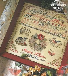 PERMIN Sampler 1859 Anna Thies Cross by NeedleCaseGoodies
