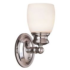 �Shandy Polished Chrome Bathroom Vanity Light $68 at Lowe's. one on either side of mirror in new master bathroom...if we go chrome.