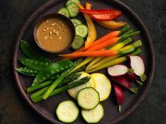 veggies and almond dip