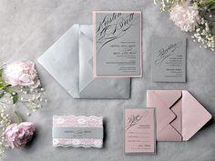 Custom listing 100 Grey and Pink Wedding by forlovepolkadots