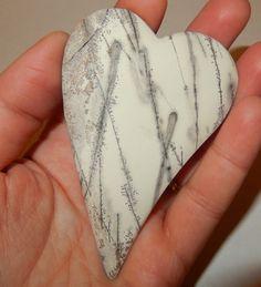 Royal Dendrite Stone Heart by earthlightgems on Etsy