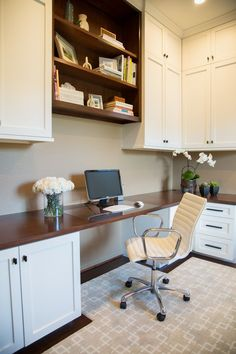 Beau BEFORE U0026 AFTER: A Home Office Is Designed For A Busy Working Couple