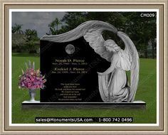 Of Beautiful Memorial Garden Stone Varieties With Factory Direct Prices! Cemetery Monuments, Cemetery Headstones, Headstones For Graves, Tombstone Pictures, Etching Machine, Cemetery Angels, Casket Sprays, Angel Statues, Aerial View