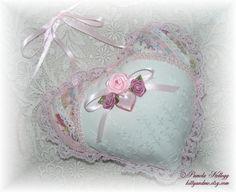 Valentine Hanging Heart Pillow Door Hanger Pink by Kittyandme, $13.95