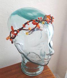 Fall Headband, Fall Leaf Crown, Fall Tiara, Autumn Leaf crown, fall leaf headband - www.BohoEarthHeadbands.etsy.com