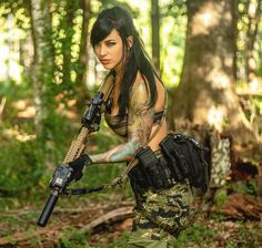 Alex Zedra, N Girls, Army Girls, Pin Up Photography, Tiger Stripes, Badass Women, Cosplay Girls, Guns, Wonder Woman