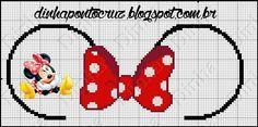 Minnie Mouse x-stitch ears