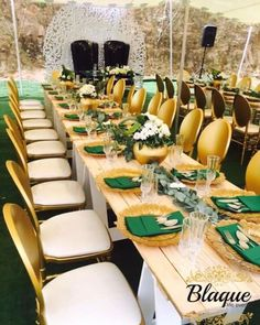Green and Gold themed Umembeso Decoration Engagement Decorations, Wedding Ceremony Decorations, Table Decorations, Wedding Ideas, Traditional Wedding Decor, African Traditional Wedding, African Wedding Theme, Gold Bridal Showers, Rustic Wedding Venues