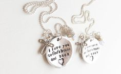 New, SET of TWO: Mommy and Me Necklaces - Custom Message Mommy Daughter Jewelry Set - Mother's Day Gift to Yourself. $60.00, via Etsy.