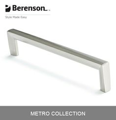 Berenson Cabinet Hardware: Item No 4118-1BPN-P - 160mm CC Cabinet Handle/Pull in…