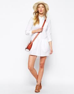 Shirtdress, Party scene. Possibly hat?