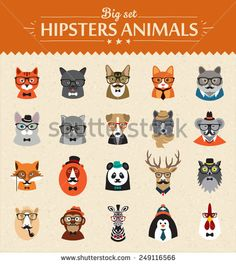 Animals Stock Vectors & Vector Clip Art | Shutterstock