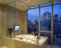 baño con tina