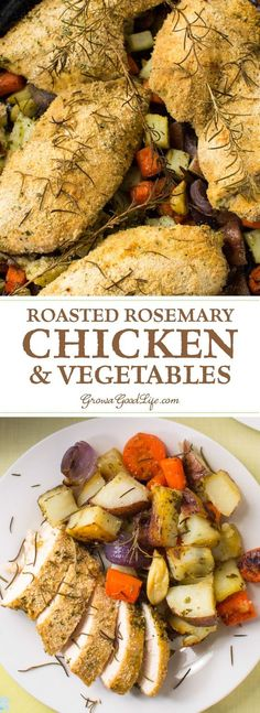 Something extraordinary occurs when vegetables are roasted. The high heat crisps up the outside of the vegetables and locks in their natural flavor. Then that flavor transforms, sweetens and intensifies as it roasts. This one-pan, roasted rosemary chicken and vegetables recipe is an easy to prep meal bursting with flavor.