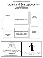 Adam and Eve lapbook lesson