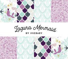 Laguna Mermaid Bedding. Baby Bedding. Mermaid Baby Bedding. Purple Mermaid Baby Bedding. Crib Sheet. Crib Skirt. Mermaid Nursery. by Iviebaby on Etsy https://www.etsy.com/listing/490853104/laguna-mermaid-bedding-baby-bedding