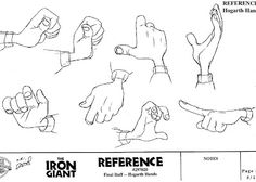 Living Lines Library: The Iron Giant - Character: Hogarth Hughes / Model Sheets