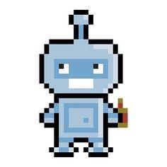 Robot Tattoo, 8 Bit, The Hobbit, Pixel Art, Chibi, Digital Art, Geek Stuff, Photoshop, Hobbit