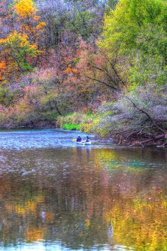 Upper Iowa Fall Color #travel #iowa #usa