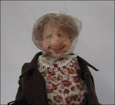 adorabellaminis Online Shop - GroovyCart - 12th Scale Dolls Buy Old Dear in Raincoat & Bonnet ~ 12th Scale