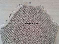 Knitting Arm Cut Numbers And Arm Joining - Ayten - - Örgüde Kol Kesim Sayıları Ve Kol Birleştirme Orgude Arm Cut Counts And Arm Combination - Diy Crafts Knitting, Diy Crafts Crochet, Easy Knitting, Sewing Crafts, Baby Knitting Patterns, Knitting Designs, Knitting Stitches, Crochet Clothes, Knit Crochet