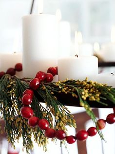 Christmas Found: Decorating with Cranberries