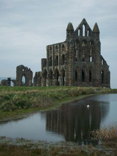 Whitby Abbey - It is a ruined Benedictine abbey overlooking the North Sea on the East Cliff above Whitby in North Yorkshire, England. It was disestablished during the Dissolution of the Monasteries in 1540 under the auspices of Henry VIII.
