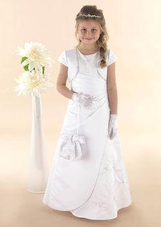 Modern A - line Communion dress with Asymmetrical Waistline - NEW 2015 - MAISIE - Linzi Jay Communion Dress - Girls Communion Dress Shop Ascot