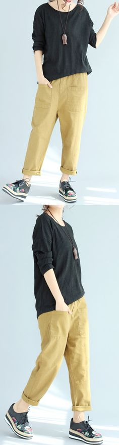 baggy-loose-woolen-black-sweater-slim-fit-long-sleeve-knit-pullover