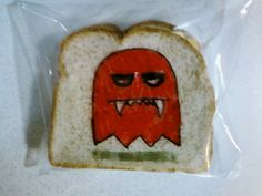 Monster Pac-Man Ghost: Circling back around to Awesome Dad's Sandwich Art, direct from David Laferriere's Flickr feed.