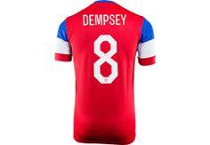 Nike Dempsey USA Away Jersey -  2014