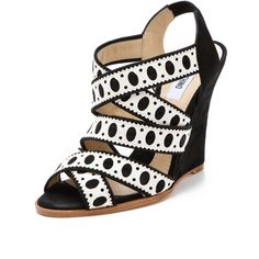 Moschino Wedge Sandals ($780) ❤ liked on Polyvore