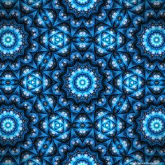 """Blue Veil"" - fabric with mandalas by Marcelo Dalla, via ManDalla Arte Visual"