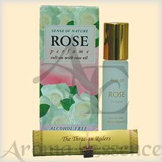 "Alcohol free Perfume ""ROSE""- white, 8ml. Fresh, captivating scent of the Bulgarian white oil-bearing rose, enriched with rose oil, musky, green and fruity."