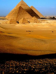 Visit the egyptian pyramids.  Site of the Giza Pyramids, Near Cairo, Egypt