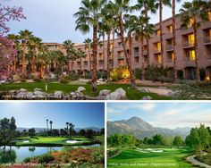 The Hyatt Regency Indian Wells Resort & Spa is the perfect place to stay while on your next California golf getaway. Two rounds on each golf course at Indian Wells Golf Resort are included in this package. Choose this Palm Springs golf vacation package for warm weather, incredible views and unforgettable rounds of golf.