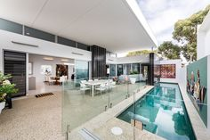 Love the pool  Showstopper single storey cubist alfresco