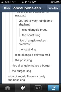 Nico di Angelo, The Ghost King taken too far.