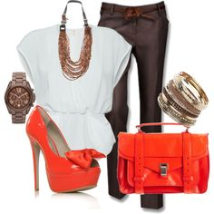 Love the accent of bright orange-- classy yet beautiful<3