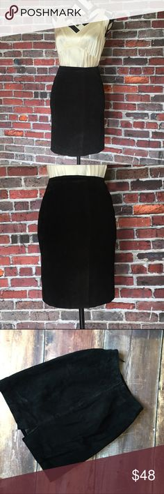 Genuine leather suede skirt Perfect for cooler seasons. Knee length. Back zip with hook and eye closure. Add to a bundle to save 15%. Skirts Pencil