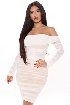 Ready And Ruched Mesh Midi Dress - Blue, Dresses | Fashion Nova White Midi Dress, Long Sleeve Midi Dress, White Maxi Dresses, Dress Black, Glam Dresses, Woman Dresses, Dress Long, Fashion Dresses, High Waisted Dress Pants
