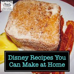 Disney Recipes You Can Make at Home