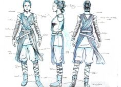 For Gracie's halloween costume Star Wars: The Force Awakens Rey Costume Turnaround