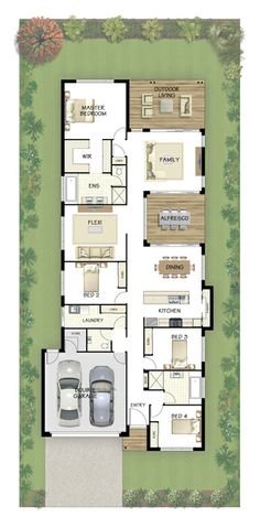2 decks Coral Homes :: Lindeman Series features Best House Plans, Modern House Plans, Small House Plans, House Floor Plans, Building Plans, Building A House, Floor Design, House Design, Shotgun House