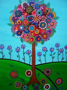 Tree Of Life with flowers  - Fun!