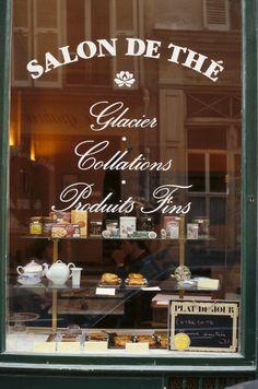 Shop window of Salon de The, Paris, France