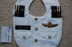 Military Dress Whites Bib An Officer and von CarolynsClassics